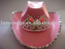 Fashion led nonwoven cowboy hats PHU-1285