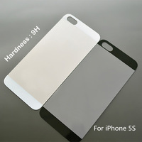 Ultimate anti-shock durable white color tempered glass Back Cover Protector for iphone 5