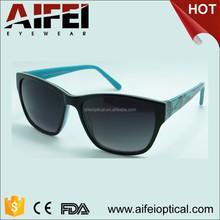 2015 double color hot sale acetate sunglasses temple with pattern