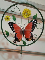 Metal Round Butterfly Wall Decor Art Garden Unique Indoor Outdoor Patio Decor