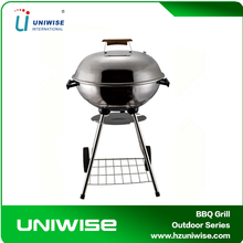 Mobile Outdoor Round Stainless Steel Weber bbq Grill with Cooking Trolley