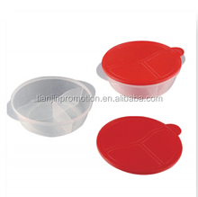 plastic transparent round lunch box