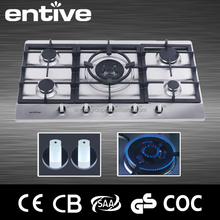 5 burner Built in restaurant equipment gas stove