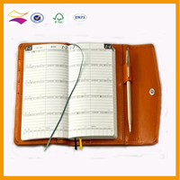 Custom high quality leather bound phone number notebook