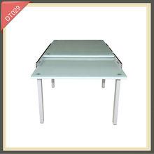 mesa de comedor de altura ajustable mueble de comedor de cristal ampliable DT029