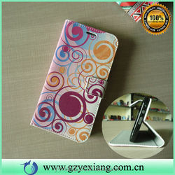 China Made Leather Flip Case For Samsung Galaxy E7 Smart Cover
