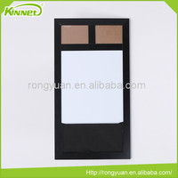 Two photo frames and magnetic dry erase whiteboard MDF board backing combo drawing wall board