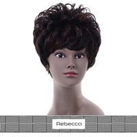 rebecca silk top quality 100% malaysian human hair lace front wig with bangs