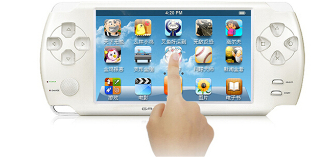 Hot vente jeu machines vente 4 3 polegada 8 gb cran tactile console de jeu portable soutien tf - Console de jeux portable tactile ...