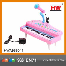 Hot Sale plastic 31 keys electric keyboard music instrument with microphone