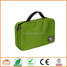 Portable Bi-fold Travel Hanging Storage Bag / Toiletry Bag/Shaving Bag , Insert Pouch Organizer for Makeup Towel Underwear Green