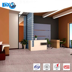 DBJX Cheap Price Durable Bitumen Backing PP Carpet Tiles For Commercial Office Decoration