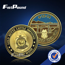 Zinc Alloy Silver Plated Coin