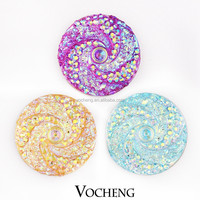 Wholesale 20PCS/Lot Vocheng 18mm Acrylic 6 Colors Ginger snaps Interchangeable Snap Charm Jewelry (Vn-717*20) Free Shipping