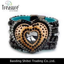 Silk Ribbon Bracelet With Bead Imitation Diamond Jewelry BL06147