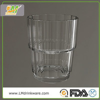 High quality bar plastic unbreakable stemless wine glass custom