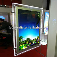 Acrylic 2 Sided Picture Frame Double Sided LED Acrylic Frame Light Box