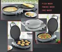 2014 new design mini timer controlled multifunction both side heating Electric Pizza oven