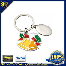 Promotional Christmas Keychain with Christmas bell logo