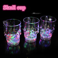 skull led glow plastic cup for party wedding