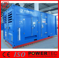 20ft Containerized Soundproof 1000kva diesel generator set , diesel generator 1000kva 4008TAG2A