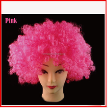 football fans wig in high quality,red synthetic wig,fashion wig