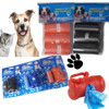 Dog Cat Poo Waste Bags, Dispenser Scoop Refill, Doggy Poop Bag Carrier Clip Bone