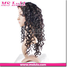 different types high quality cheap human hair bundles custom design indian remy ocean wave hair full lace wig