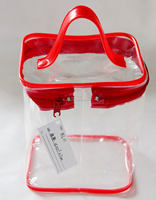 Promotion Clear pvc cosmetic bag With Handle ShenZhen Professional Manufacture
