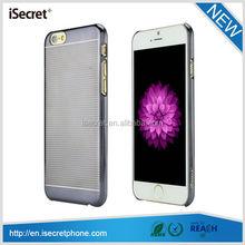 iSecret New arrival revolve diamond raised hard pc transparent case for iphone 6 plus