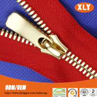 Zipper wholesale in china high quality fancy gold plated zipper for hot sale