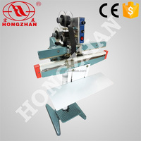 Zhejiang Hongzhan KS plastic bag Double Sealing line Aluminuim body Foot pedal Impulse Sealer