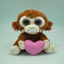 stuffed plush monkey girl with soft material and delicate handmade products