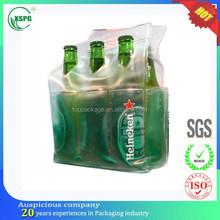 plastic popular custom PVC wine bottle carrier bag