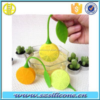 Strawberry&Lemon shape silicone tea infuser with food-grade certificate