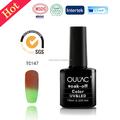 2015 fábrica venta al por mayor empapa cambio de temperatura del envío muestras uv gel nail polish