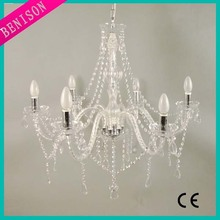 Hot Sell New Design Modern plastic crystal chandeliers