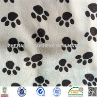 China textile factory 100%Polyester ef velvet print embossing fabric wholesale fashion fabric