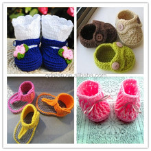 2015 best selling crochet funny happy baby shoes