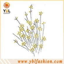 yellow flower epoxy tshirt iron-on transfer design for fashion girl