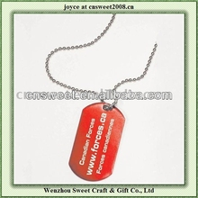 promotional zinc alloy dog tag silencer for pet gift