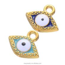 Light Dark Bule Evil Eye Enamel Pendants Charms Wholesale