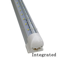 NEW Integrated 8ft 2400mm 44W Led T8 v shape Cooler Door Tube light SMD2835 High Bright light