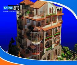 Galaxy Beach 3D Miniature Villa Model builder