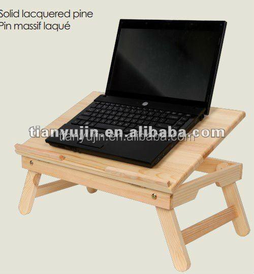 tilt top panel wooden portable folding laptop table desk stand tray