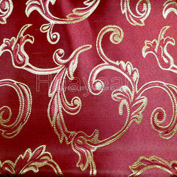 china red color 100% polyester jacquard new design curtain