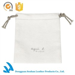 Classic cheapest small drawstring dust bag for ladies jewelry