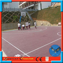 double layer price court floor basket ball professional