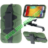 Fashion Design 2 in 1 Silicon Case for Samsung Note 3 / N9000 & 180 Degree Rotatable Belt Clip