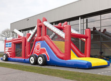 Inflatable Fire Truck Bouncy Obstacle